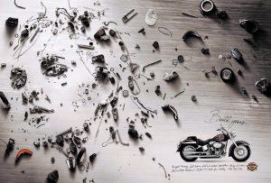 Ley de Cierre en anuncio de Harley Davidson
