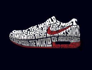 Zapatilla Nike en anuncio de Adobo Magazine