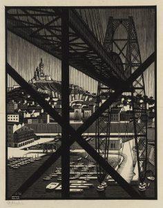 Marsella (1936), grabado en madera de M. C. Escher