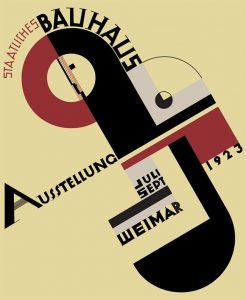 Cartel de la Primera Exposición de la Bauhaus, diseñado por Joost Schmidt en 1923.