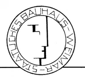 Logo de la Escuela de la Bauhaus de Weimar, diseñado por Oskar Schlemmer en 1922.