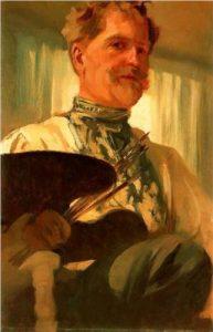 Autoretrato de Alfons Mucha (1907).