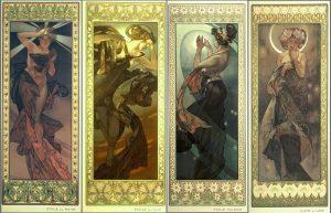 La Luna y las estrellas (1902), de Alfons Mucha.