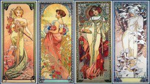Las cuatro estaciones, de Alfons Mucha (1900).