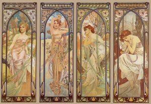 Las horas del día, de Alfons Mucha (1899).
