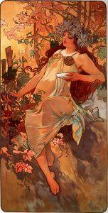 Otoño, de Las cuatro estaciones de Alfons Mucha (1896).