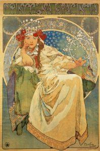 Princesna Hyacinta, de Alfons Mucha (1911).