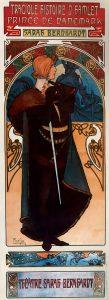Théâtre de la Renaissance. Hamlet, de Alfons Mucha (1899).
