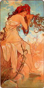 Verano, de Las cuatro estaciones de Alfons Mucha (1896).